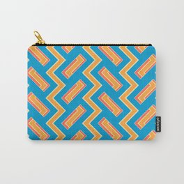 034 Abstract white, light orange and blue art for home decoration Carry-All Pouch
