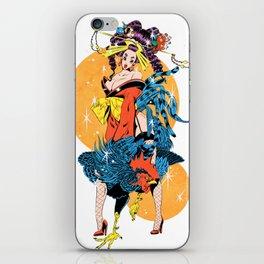 cocktail oiran girl iPhone Skin