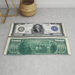 1918 James Madison $5,000 Federal Reserve Bank Note Rug
