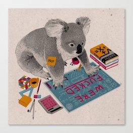 Prof Koala Canvas Print