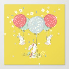 flying bunny Canvas Print