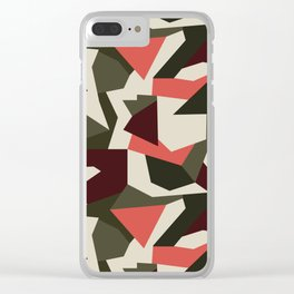 Camouflage pattern Clear iPhone Case