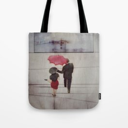 Walk In The Rain Tote Bag