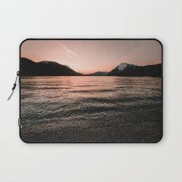 Sunset at the Mountain Lake - Nature Photography Laptop Sleeve