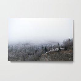 Beluga Point Fog Metal Print
