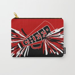 Dark Red Cheerleader Spirit Carry-All Pouch