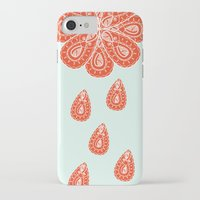 henna iPhone & iPod Cases featuring Henna Shower by Neela