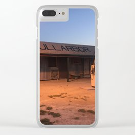 Service station in the middle of nowhere Clear iPhone Case