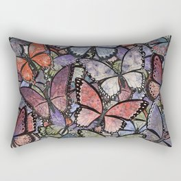 butterflies galore grunge version Rectangular Pillow