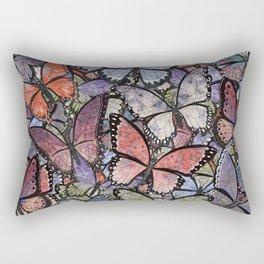 butterflies galore grunge version Rectangular Pillow