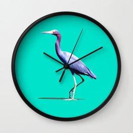 Little Blue Heron Wall Clock