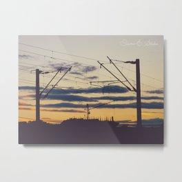 Sunset under construction Metal Print