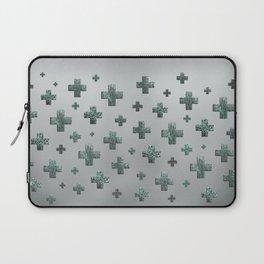 Crosses - Green Laptop Sleeve