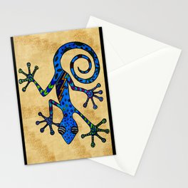 Bowie Gecko Stationery Cards