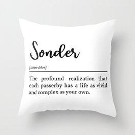 Sonder Definitioin Throw Pillow