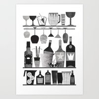 bar Art Prints featuring Bar by Kata