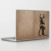 schnauzer Laptop & iPad Skins featuring Miniature Schnauzer by illustrious state