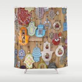Hamsa lucky charms Shower Curtain