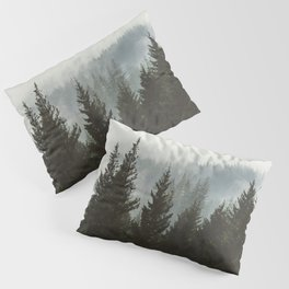 Wanderlust Forest II - Mountain Adventure in Foggy Woods Pillow Sham