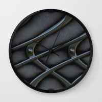 the wire Wall Clocks featuring The wire by MehrFarbeimLeben