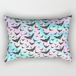 Holographic Glitter Bats Pattern Rectangular Pillow
