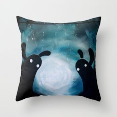 mosters playground Throw Pillow