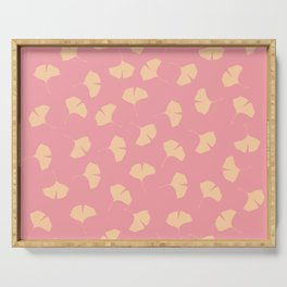 pink ginkgo Serving Tray