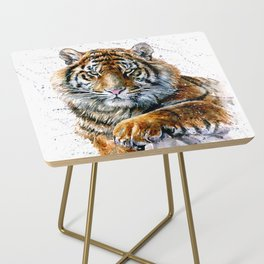 Tiger watercolor Side Table