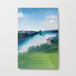 On The Other Side Of Niagara Falls Metal Print