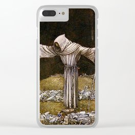 """Brother Martin"" Watercolor by John Bauer Clear iPhone Case"