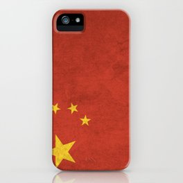 China Flag (Vintage / Distressed) iPhone Case