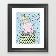 Creamy Head Framed Art Print