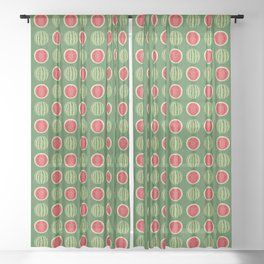 Water Melon Quench Sheer Curtain