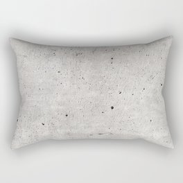 Smooth Concrete Small Rock Holes Light Brush Pattern Gray Textured Pattern Rectangular Pillow