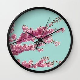 Japanese Cherry Blossom Tree Wall Clock