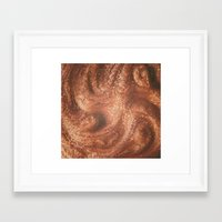 copper Framed Art Prints featuring Copper by Ellie Rose Flynn