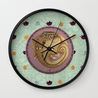 ganesh Wall Clocks featuring Ganesh by S*TRU