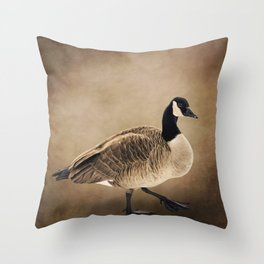 Canada Goose Portrait Throw Pillow