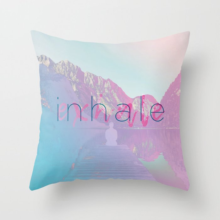 Inhale / Exhale Throw Pillow