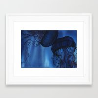 jellyfish Framed Art Prints featuring Jellyfish by Dana Martin