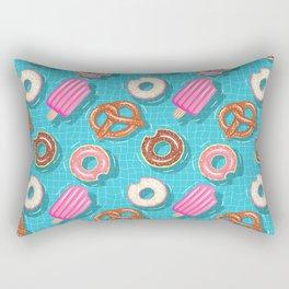 Poolparty doughnuts, pretzel,lollies Rectangular Pillow