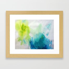 Spirit Map Oceans Framed Art Print