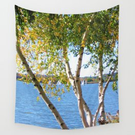 Sailing through the Birch Wall Tapestry