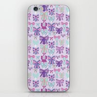 bows iPhone & iPod Skins featuring Bows by Jessica Anecito