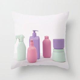 Plastic bottles Throw Pillow