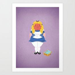 Alice in worriedland Art Print