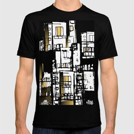 Black & Yellow Fire Escape T-shirt