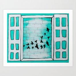 Birds of my neighborhood Art Print