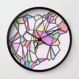 Geometric Rainbow Glacier Wall Clock
