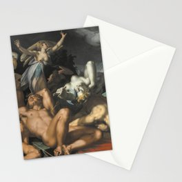 Abraham Bloemaert - Apollo and Diana Punishing Niobe by Killing her Children (1591) Stationery Cards